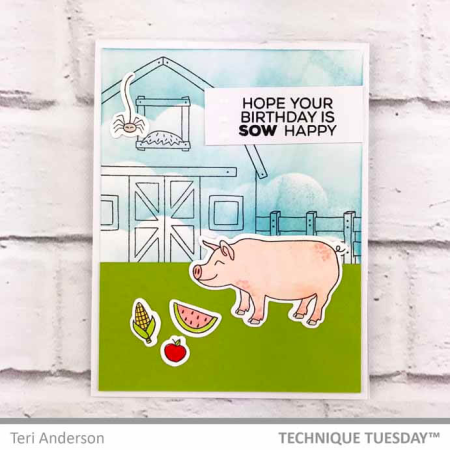 A stamped card from Technique Tuesday || TechniqueTuesday.com