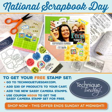 National Scrapbook Day stamps from Technique Tuesday || TechniqueTuesday.com