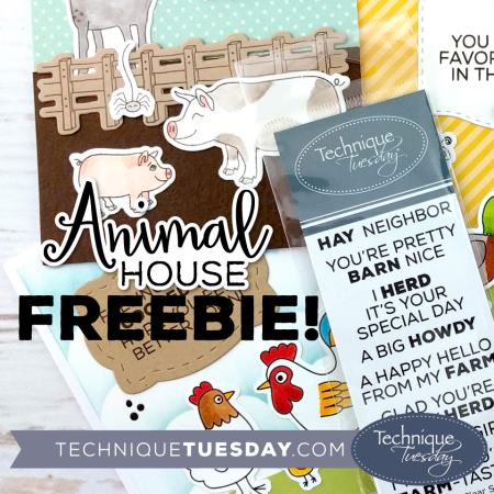 Free Hay Neighbor stamp from Technique Tuesday | TechniqueTuesday.com