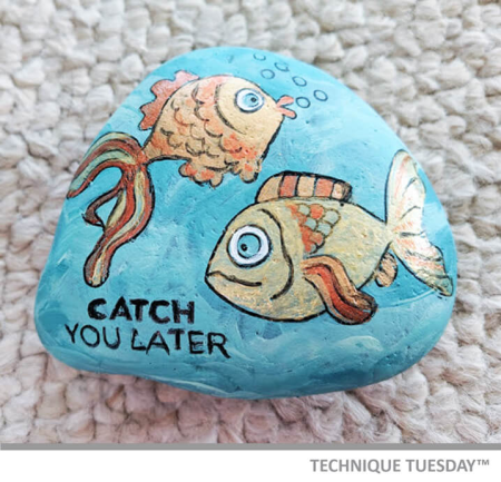 Stamping on Rocks by Shelley Goff for Technique Tuesday