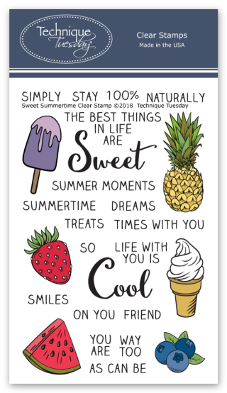 Sweet Summertime Stamps from Technique Tuesday | TechniqueTuesday.com