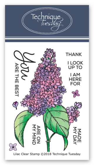 Lilac Clear Stamps from Technique Tuesday || TechniqueTuesday.com