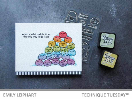 Cards that Rock by Emily Leiphart | TechniqueTuesday.com