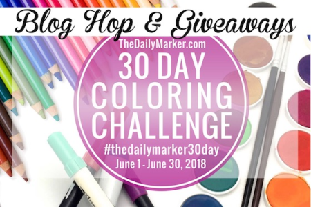 30 Days Coloring Challenge from The Daily Marker