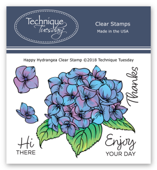 Happy Hydrangea Stamp Set from Technique Tuesday