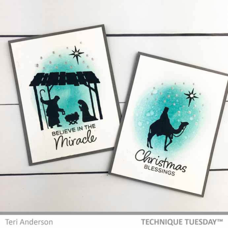 Christian Christmas Cards from Technique Tuesday | TechniqueTuesday.com