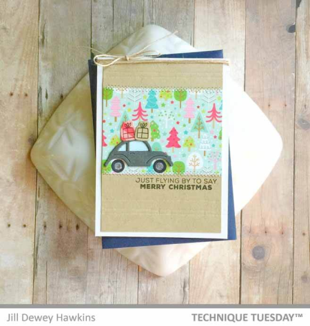 Christmas Car Card for Technique Tuesday | TechniqueTuesday.com