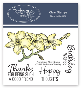 Frangipani stamp set from Technique Tuesday | TechniqueTuesday.com