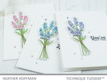 Lovely Lavender card set by Heather Hoffman