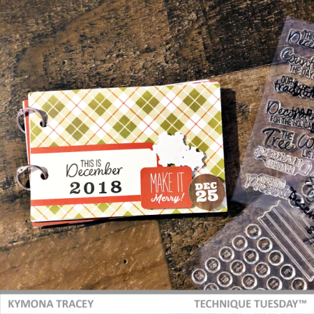 Documenting December mini book by Kymona Tracey