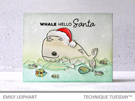 Whale Hello Santa Card by Emily Leiphart
