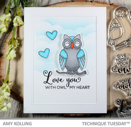Owl Card by Amy Kolling