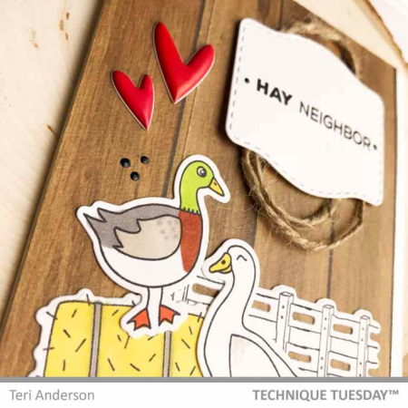 Hay There Duck Card by Teri Anderson | TechniqueTuesday.com
