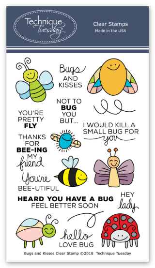 Bugs & Kisses Stamp Set from Technique Tuesday