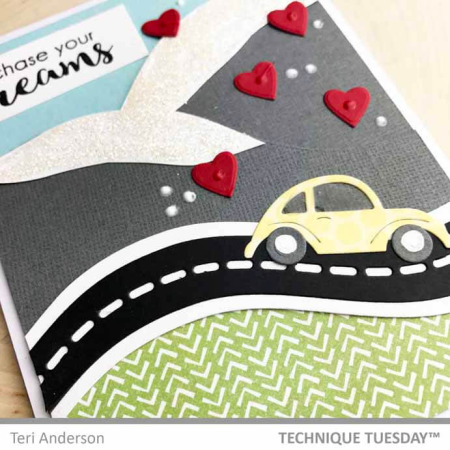 Cars on the Border tutorial from Technique Tuesday