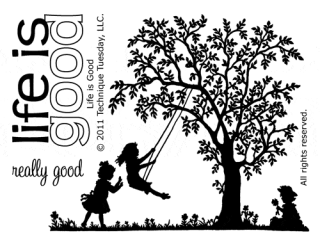 Life is Good stamp set from Technique Tuesday | TechniqueTuesday.com
