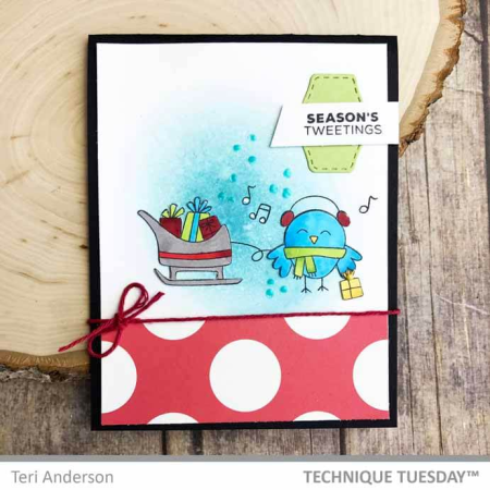 Season's Tweetings Christmas Bird Card by Teri Anderson