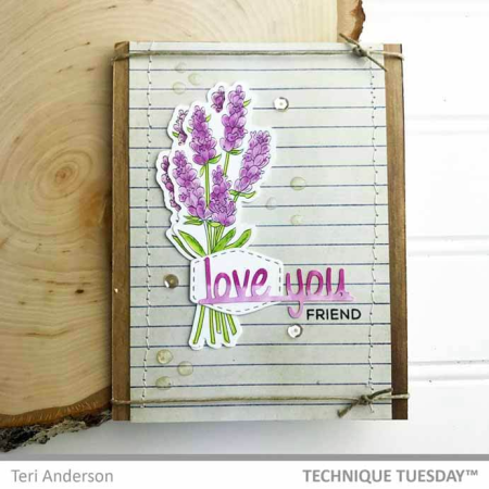 Love You Lavender Card by Teri Anderson