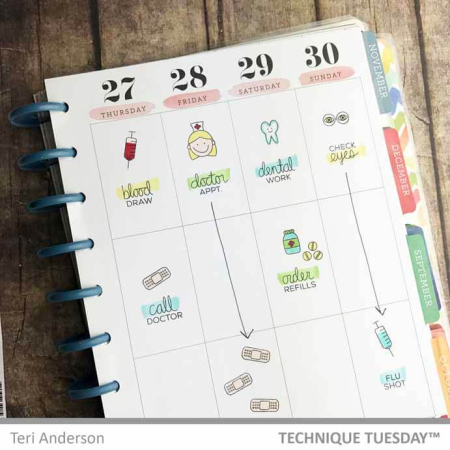 Planner-Medical-Page-Teri-A-Technique-Tuesday
