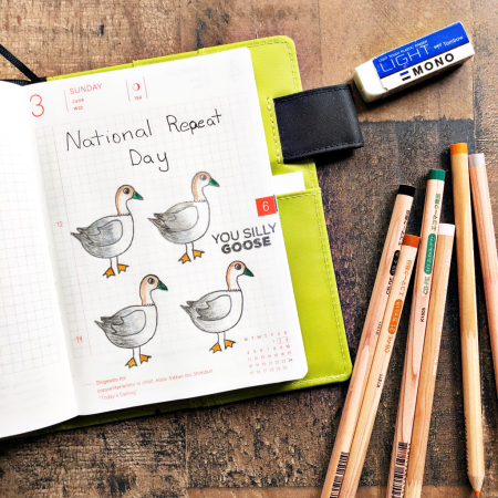 Stamped Geese by Kymona Tracey for Technique Tuesday