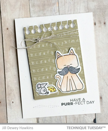 1-Purrfect-Day-Handmade-Card-Cats-Critter-Stamps-Jill-H-Technique-Tuesday