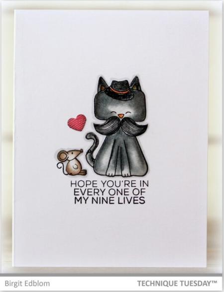 1-Cat-Mouse-Friends-Handmade-Card-Friendship-Birgit-E-Technique-Tuesday