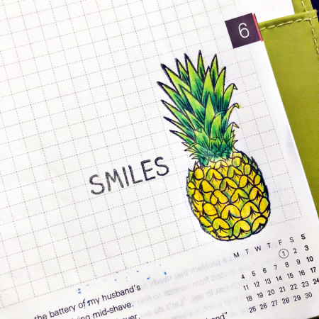 Smiles Pineapple by Kymona Tracey for Technique Tuesday