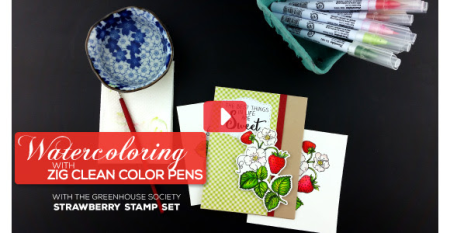 Watercoloring with Zig Clean Color Pens Video | Technique Tuesday