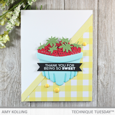 Berry Basket card by Amy Kolling for Technique Tuesday | TechniqueTuesday.com