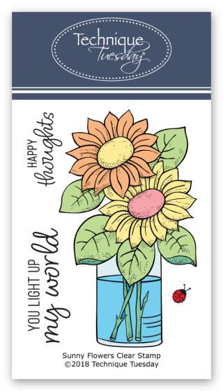 Sunny Flowers Greenhouse Society stamp set from Technique Tuesday | TechniqueTuesday.com