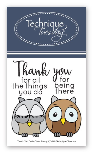 Thank You Owls stamp set from Technique Tuesday | TechniqueTuesday.com