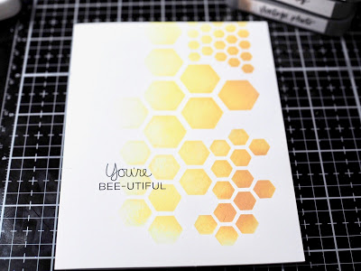 A Bee-utiful Stamped Card by Tobi Crawford
