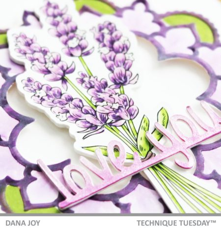 Lavender Mandala Card by Dana Joy