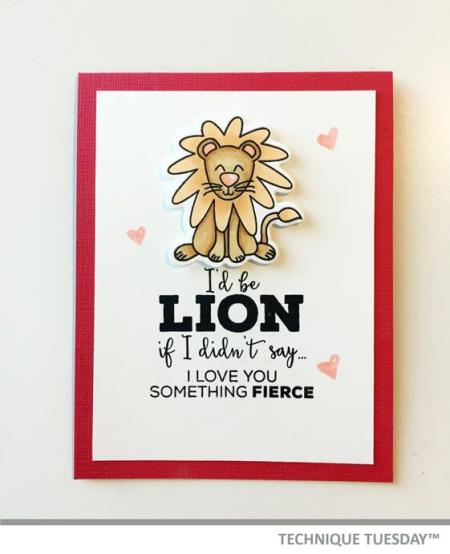 1-Be-Lion-Handmade-Card-Animal-House-Ashley-H-Technique-Tuesday